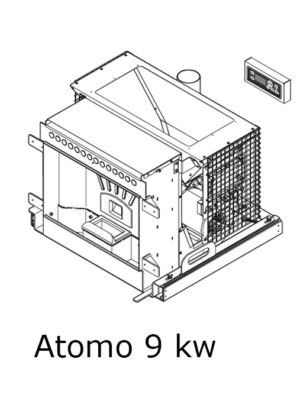 Atomo insert a pellet 9 kw ( 65 - 75 ou 85 )
