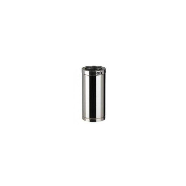 Element droit 10 cm double paroi ilsolé DIAM 80/130